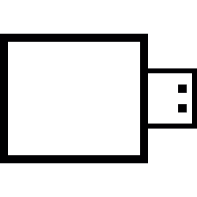 Small flash drive vector logo