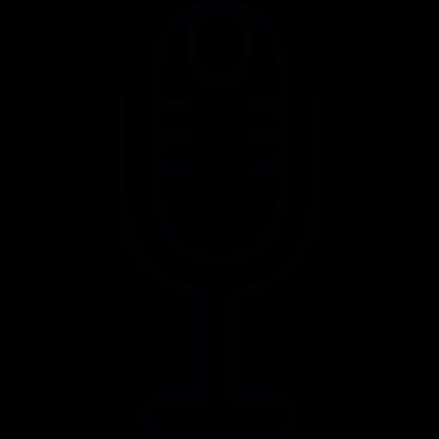 Mic vintage style, IOS 7 interface symbol vector logo