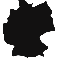 Germany country map black shape vector