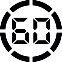 Digital display 60 vector