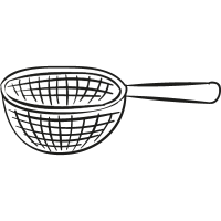 Strainer with handle vector