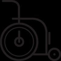 Wheelchair facing Right vector