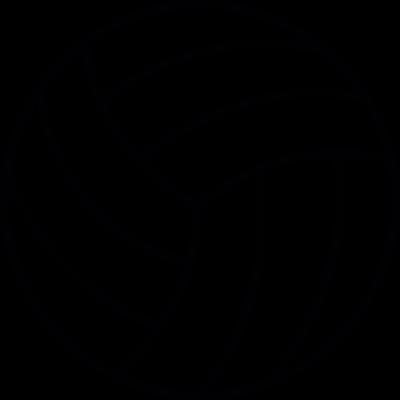 Volleyball ball vector logo