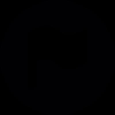 Flag Button vector logo