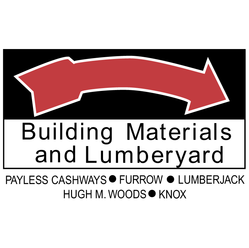 Building Materials and Lumberyard vector