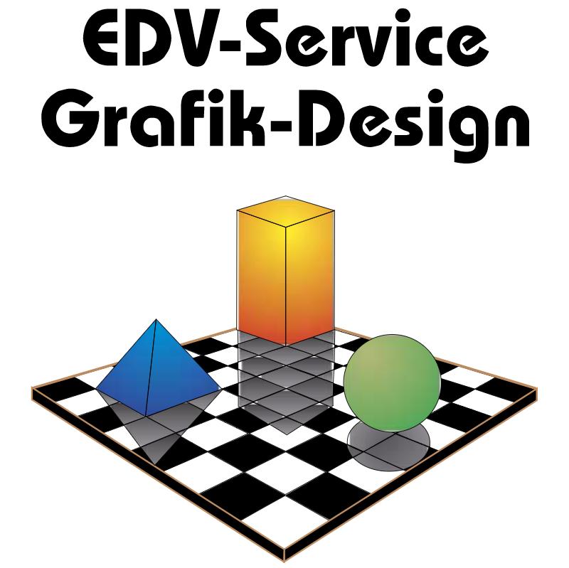 EDV Service Grafik Design vector logo
