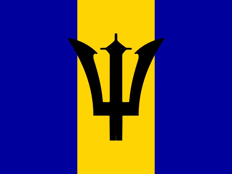 Flag of Barbados vector logo