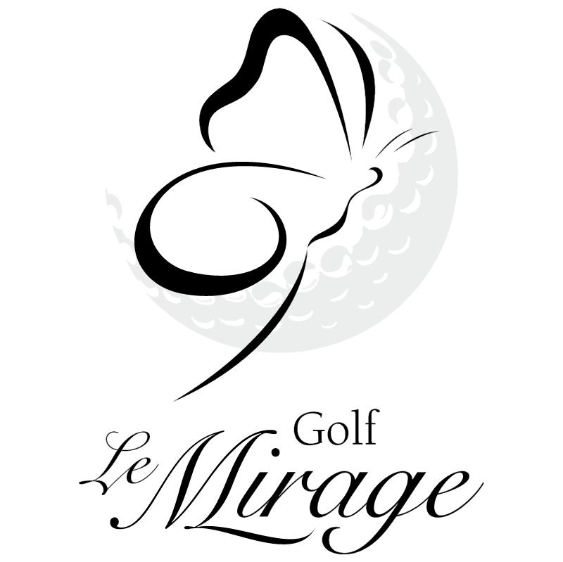 Golf Le Mirage vector logo
