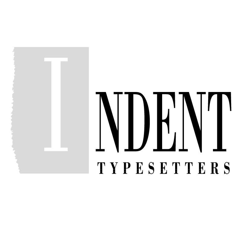Indent Typesetters vector