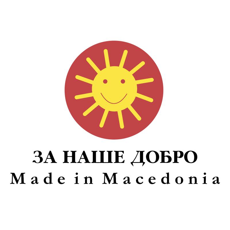 Made in Macedonia vector