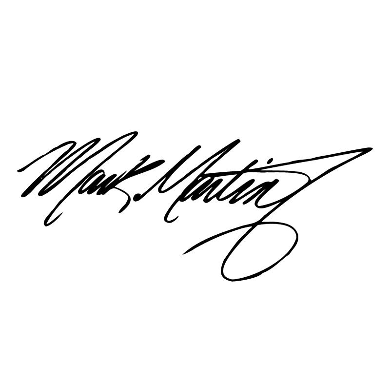 Mark Martin vector logo