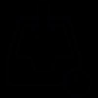 Box with a down arrow vector