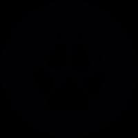 Wolf footprint vector