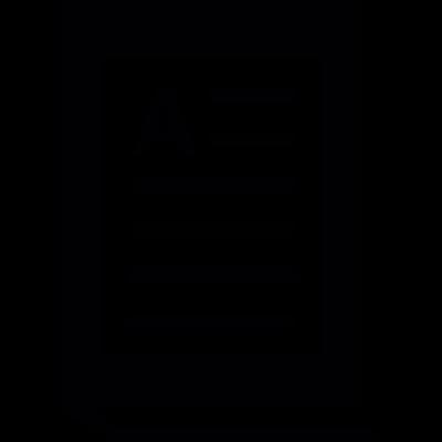 Book of text vector logo