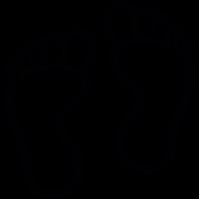 Human footprints outline vector logo