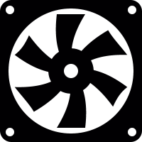 Computer electric fan vector