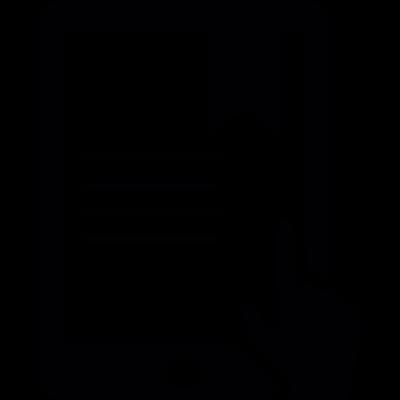 Tactile tablet vector logo