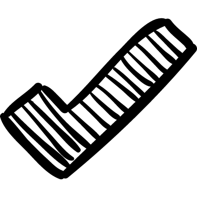 Verification sign sketch vector logo