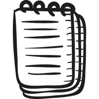 Notepad with rings vector