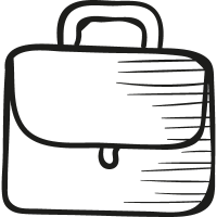 Briefcarrier with handle vector