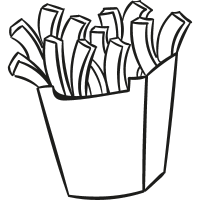 French Fries Box vector