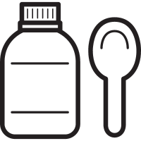 Syrup with Spoon vector