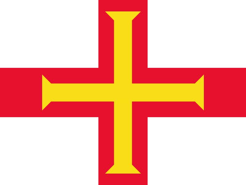 Flag of Guernsey vector logo