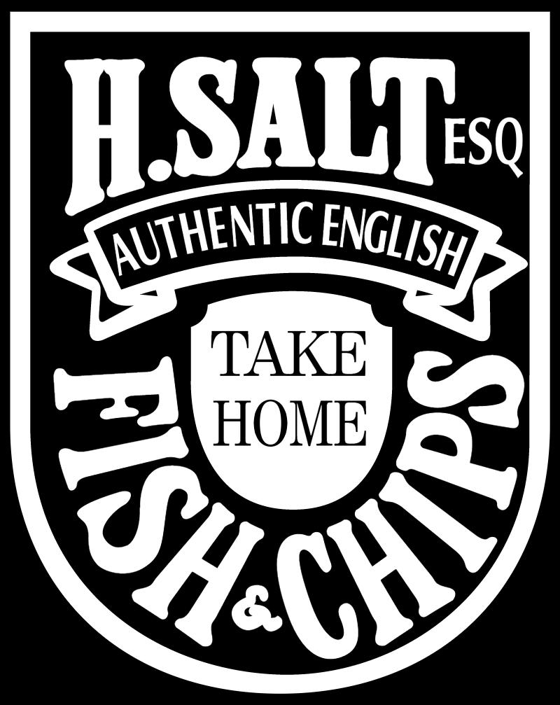 H Salt Fish & Chips vector logo