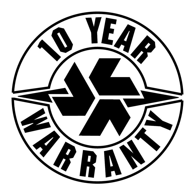 Hart & Cooley 10 Years Warranty vector