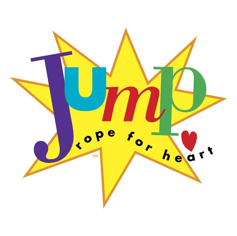 Jump rope for heart vector logo