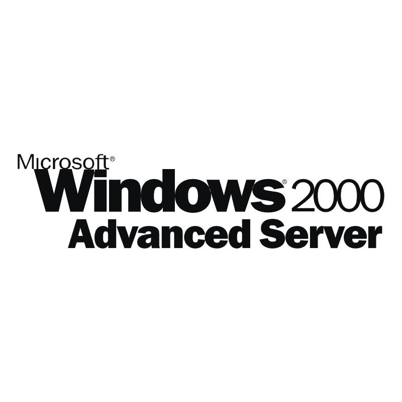 Microsoft Windows 2000 Advanced Server vector