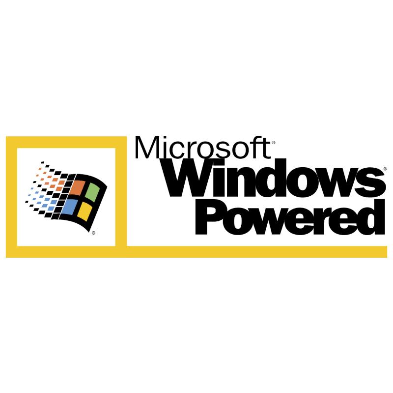 Microsoft Windows Powered vector