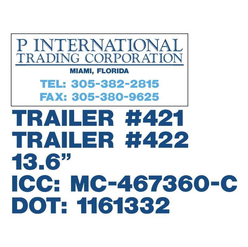 P International Trading Corporation vector logo