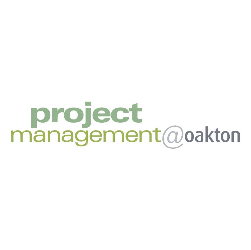 Project Management oakton vector