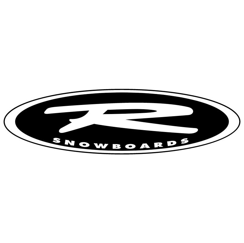 R Snowboards vector