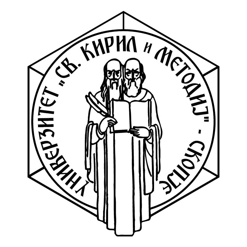 Univerzitet Sv Kiril i Metodij vector logo