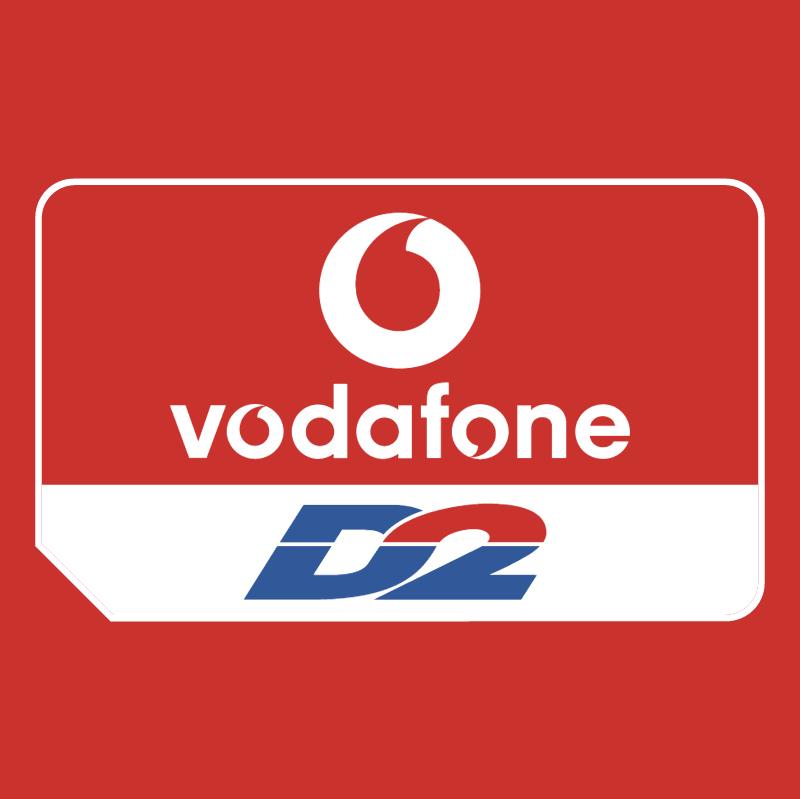 Vodafone D2 vector logo