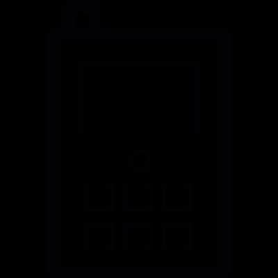 Mobile with antenna vector logo