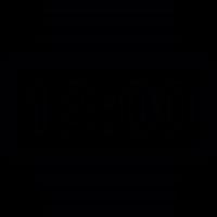Striped wristwatch vector