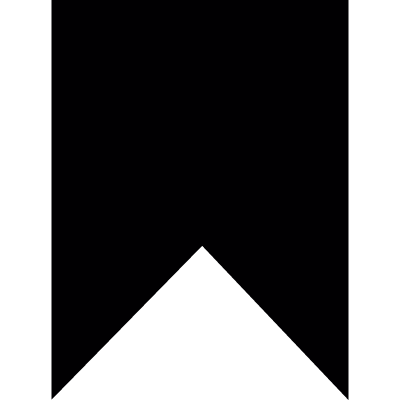 Vertical bookmark vector logo
