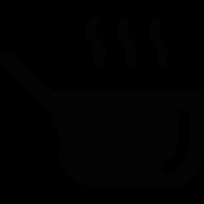 Hot kitchen pot vector logo