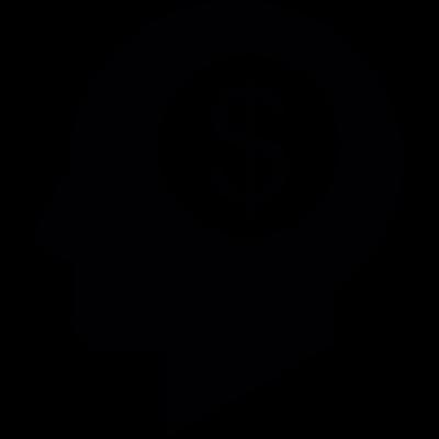 Head with Dollar Symbol vector logo