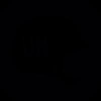 United Nations volunteer helmet vector