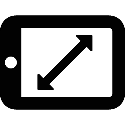 Tablet with Diagonal Arrow vector logo