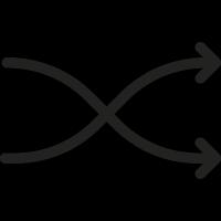 Shuffle Arrows vector