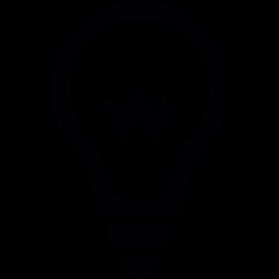 Light Bulb filament vector logo