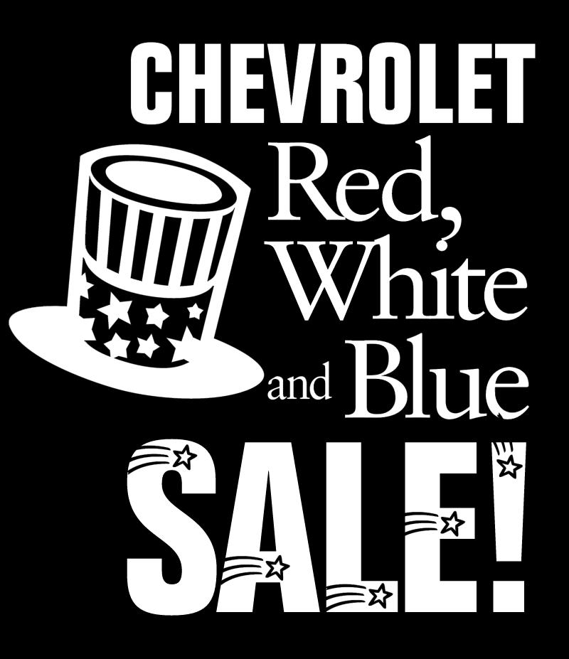 Chevrolet Red White Blue vector