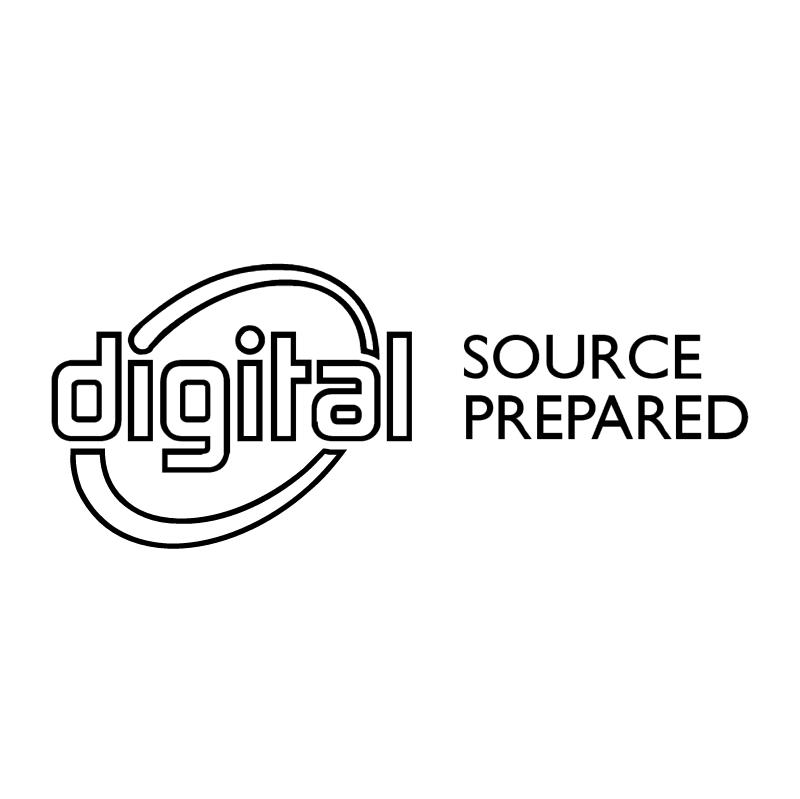 Digital Source Prepared vector