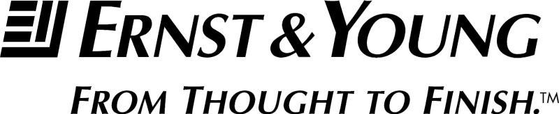 ERNST & YOUNG WITH TAGLINE vector logo