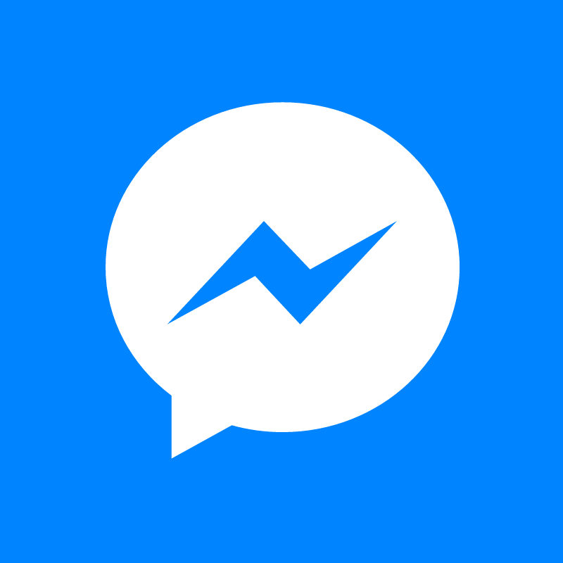 Facebook Messenger white vector